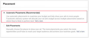 automatic placement facebook